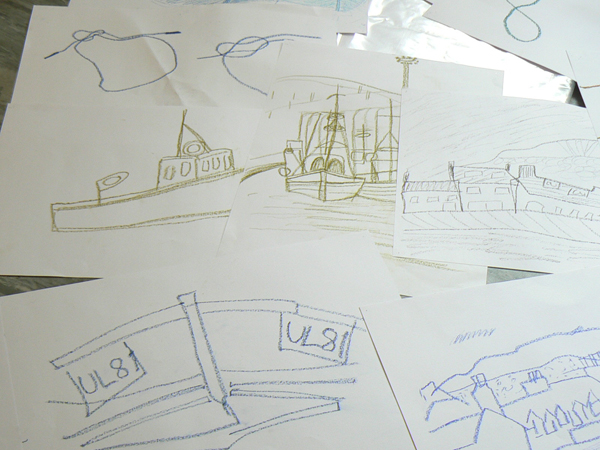 some of the drawings from the workshops